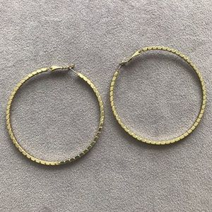 "2.5"" Gold Colored Hoops!"